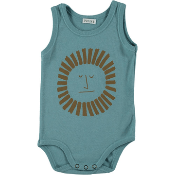 picnik jan sleeveless baby bodysuit green sun