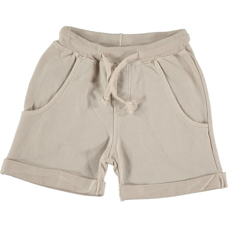 picnik knit drawstring short grey