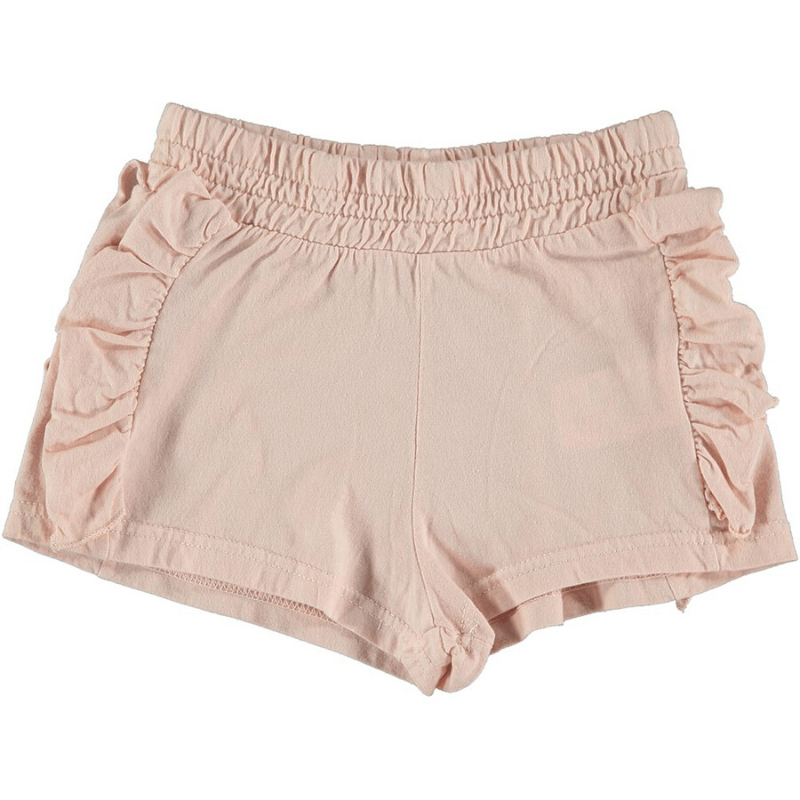 ruffle shorts, blush