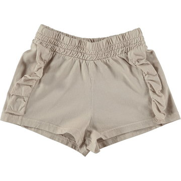 picnik knit ruffle shorts, grey