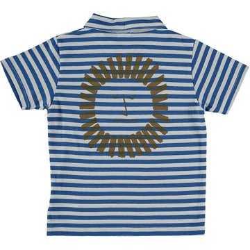 picnik striped polo t-shirt lion graphic back