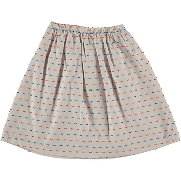 picnik woven skirt in grey multi dot