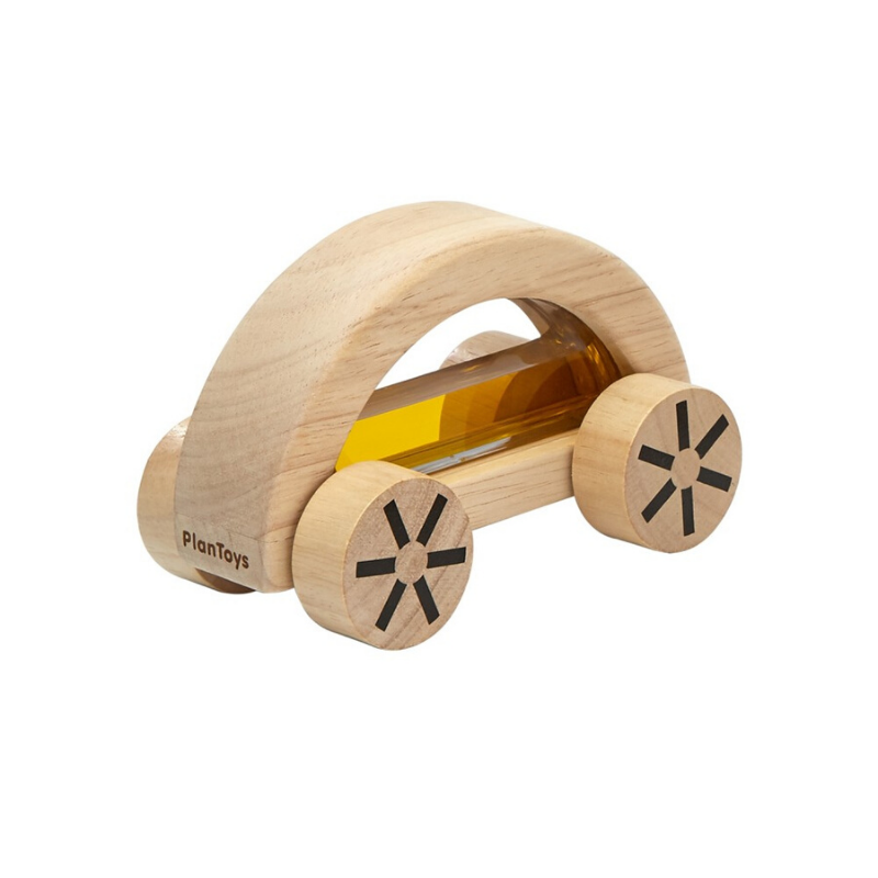 plan toys wooden wautomobile yellow