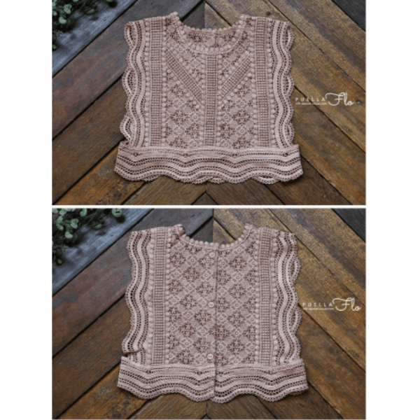 romance vest in pink