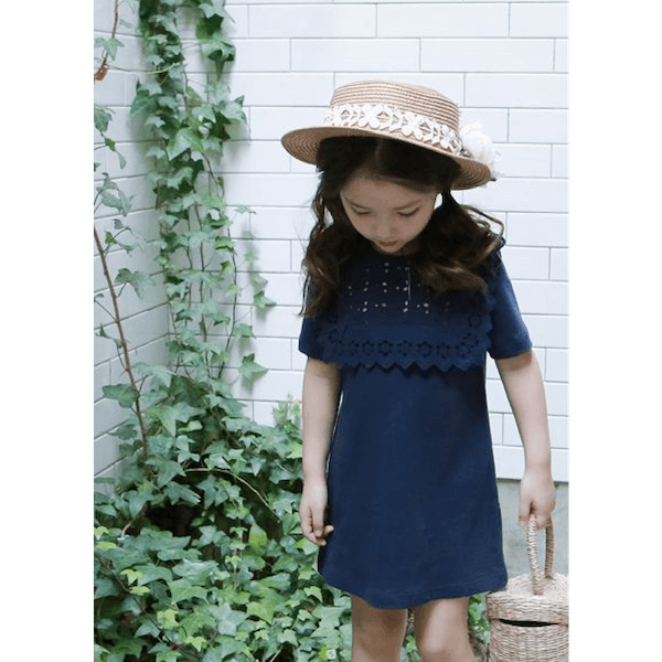 wassily dress in navy