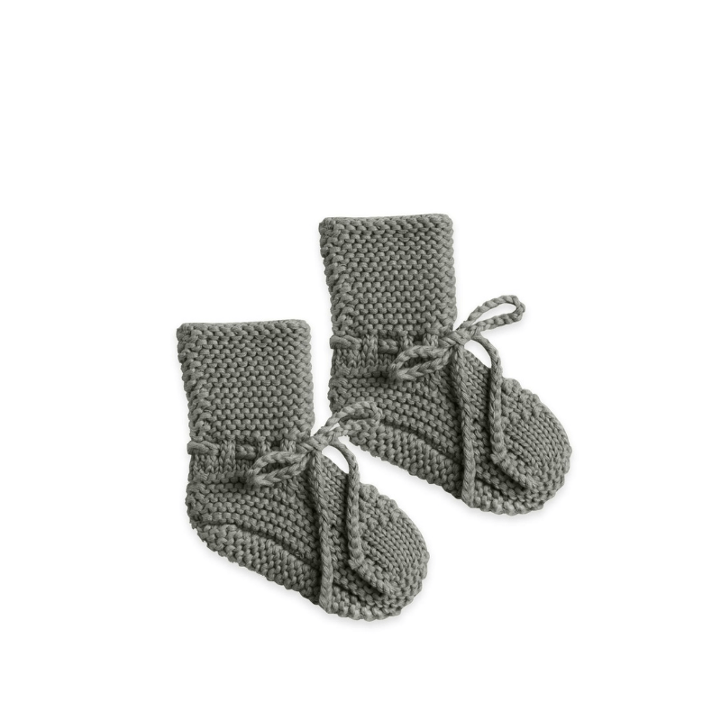 Quincy Mae sweater knit booties eucalyptus
