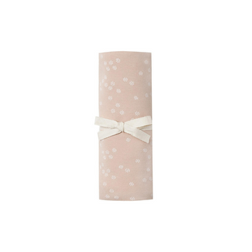 quincy mae organic brushed jersey swaddle, rose flora print