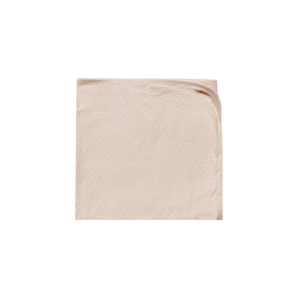quincy mae organic pointelle baby blanket, rose