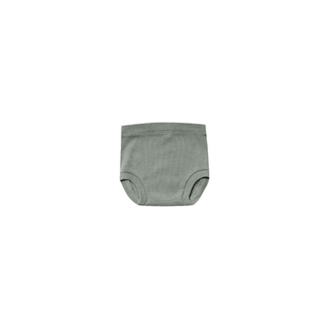 quincy mae organic ribbed jersey bloomer, eucalyptus