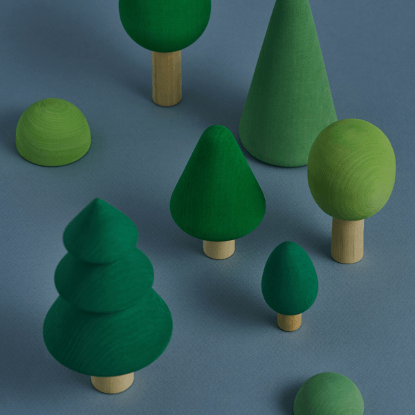 wooden forest play set