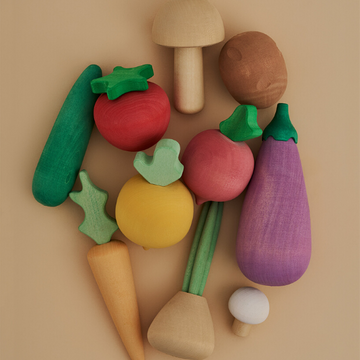 raduga grez wooden vegetable play set