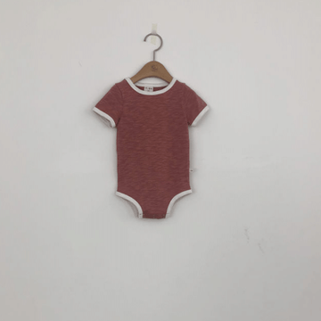 retro onesie for babies red and white