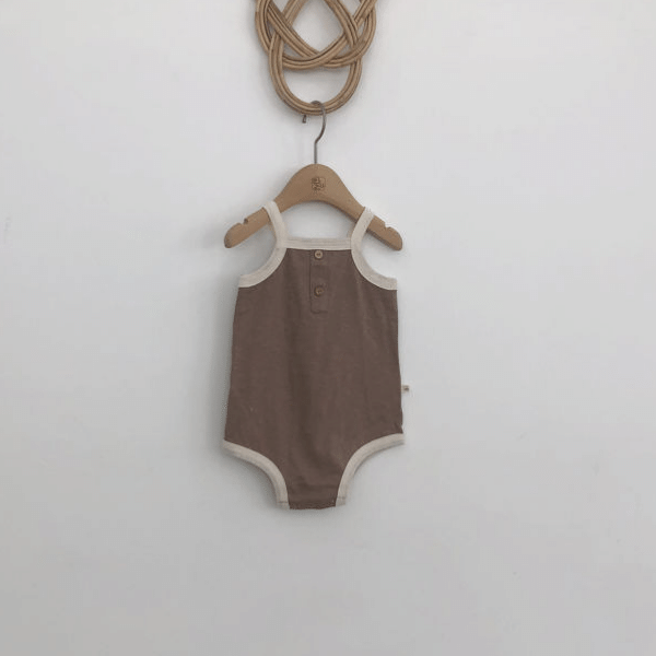 retro romper in dark beige
