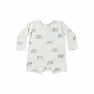 rylee and cru bears dash romper, ivory