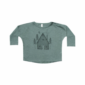rylee and cru cabin long-sleeve tee, spruce
