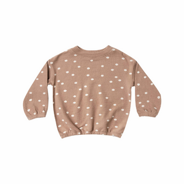 rylee and cru dot pullover sweater, truffle