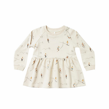 rylee and cru ski raglan dress wheat
