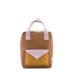 small envelope backpack in sugar brown (recycled material)