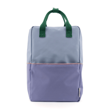 sticky lemons large color block backpack in henckles blue