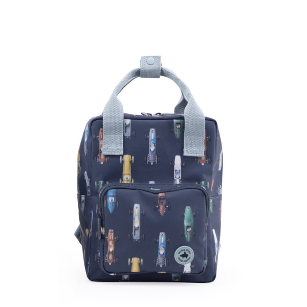 studio ditte race car backpack in navy