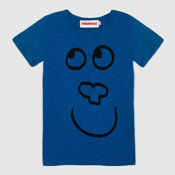 t-shirt, blue crazy monkey