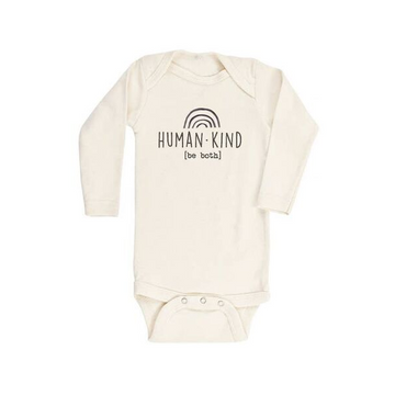 tenth and pine human kind be both long sleeve bodysuit
