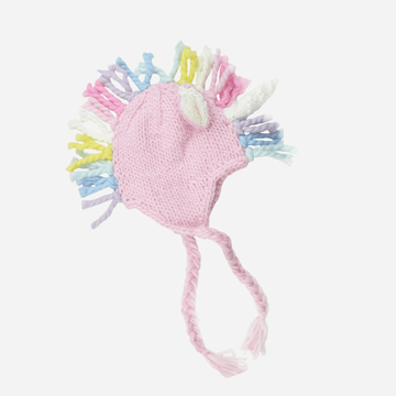 Ella Unicorn Hat, Pink with Multi Mane