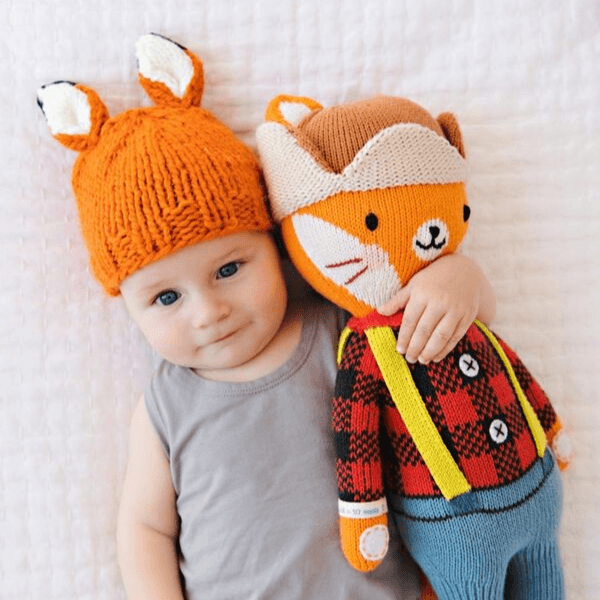the blueberry hill rusty fox knit hat