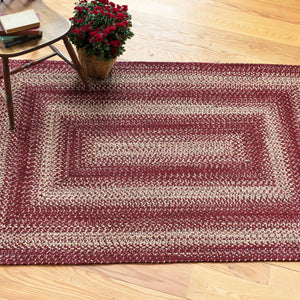 Oval 5x8 Barn Red Rug
