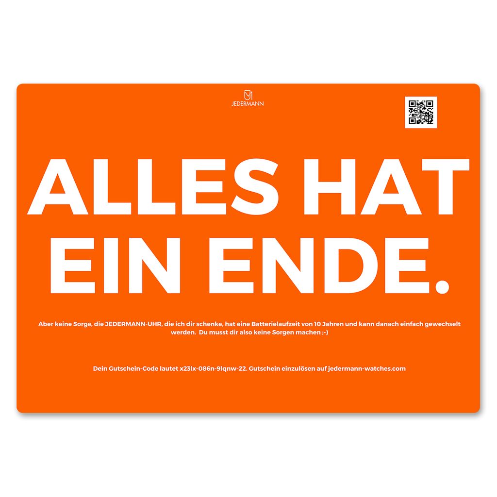 JEDERMANN GIFT CARD BLAU & ORANGE