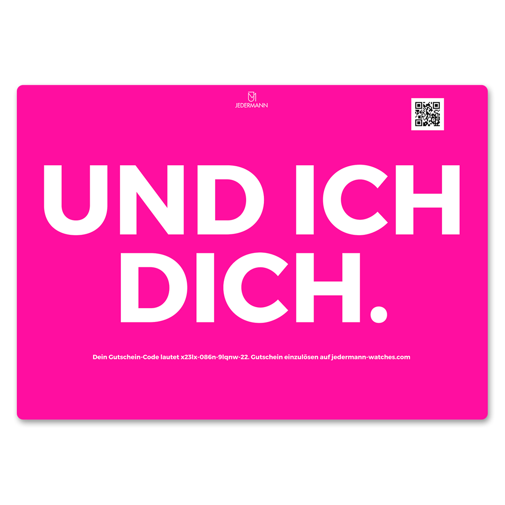 JEDERMANN GIFT CARD BLAU & PINK