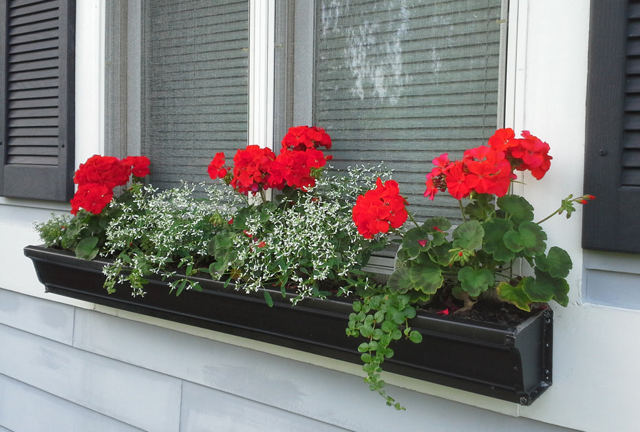 flower box repurposed gutters