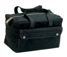 "Military-Style Mechanic's Bag 11""x7""x6"" Brass and Black Zipper option"