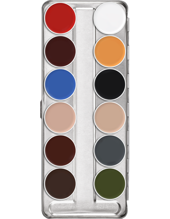 Kryolan Supracolor Palette 12 Colour (ART.1004) - Precious About Make-up, (product_title),Make Up, KRYOLAN