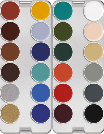Kryolan Supracolor Palette 24 Colour (ART.1008) - Precious About Make-up, (product_title),Make Up, KRYOLAN