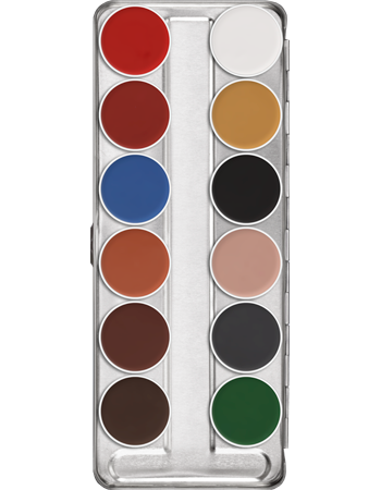 Kryolan Aquacolor Palette 12 Colour (Art.1104) - Precious About Make-up, (product_title),Make Up, KRYOLAN