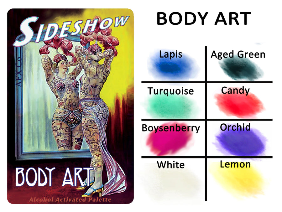 Sideshow - Body Art Palette - Precious About Make-up, (product_title),Alcohol Palette, AFX