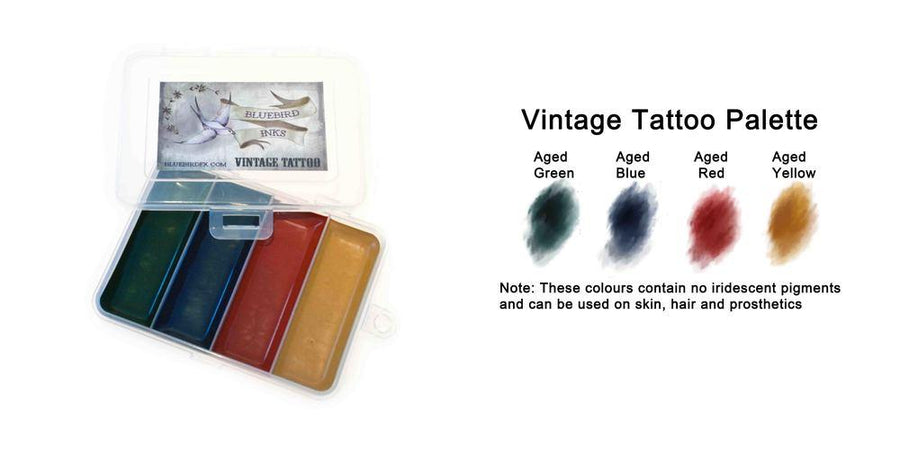 Bluebird Vintage Tattoo Palette - Precious About Make-up, (product_title),SFX, Bluebird