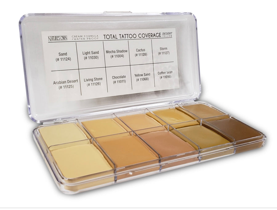 Total Tattoo Cover Palette - Desert Yellow - Precious About Make-up