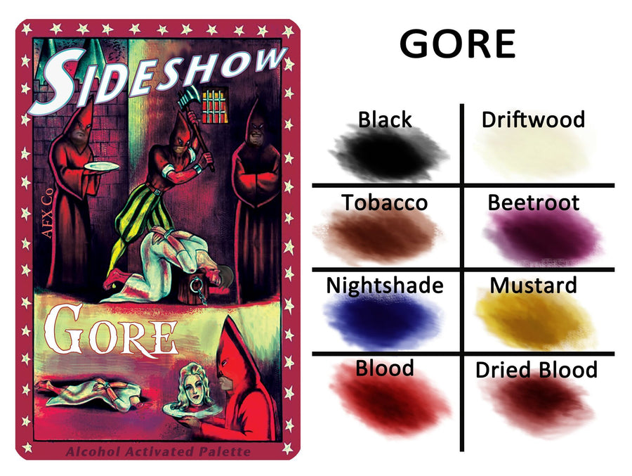 Sideshow - Gore Palette - Precious About Make-up, (product_title),Alcohol Palette, AFX