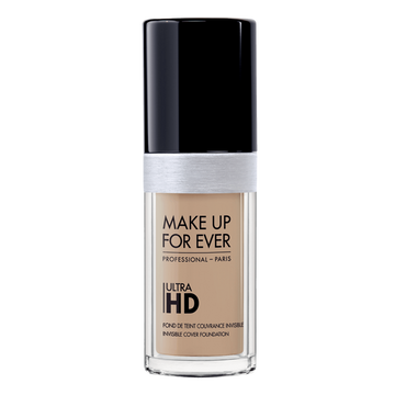 Reformulated to adapt to 4K technology. Make Up Forever - Ultra HD Invisible Cover Fluid Foundation keeps its ultra-fine granulometry that unifies the complexion without making lines, and masks imperfections without making itself noticed. Its high-performance formula is virtually undetectable, offering perfect complexion makeup with a natural finish and spectacular glow.