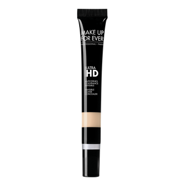 Created for the very latest high-definition technologies of the film and TV industry, ULTRA HD advanced formulas look invisible on 4K camera and to the naked eye. Perfect for the makeup pros and for you.  Make Up Forever Ultra HD Concealer covers dark circles, unifies the eye contour and hides signs of fatigue, leaving a smooth luminous flawless finish.