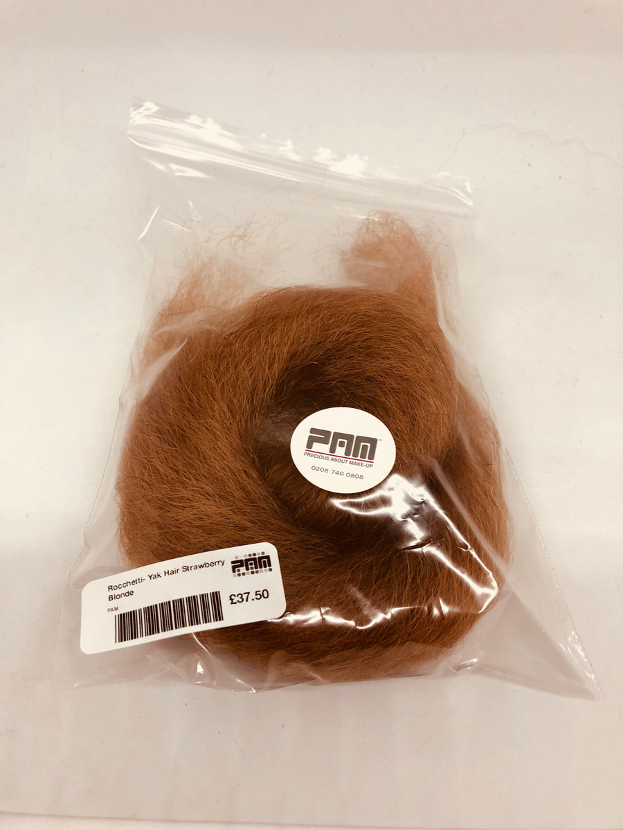 Yak Hair - 16g Bag - The finest Yak Hair from The Maestri. There are a range of tones available for mixing and creating the best colour match to suit your actor. Perfect for laying on a beard, moustache, sideburns and eyebrows. This is also suitable for altering the look of Hairline on a wig.
