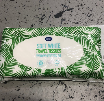 Soft White Travel Tissues- 2 ply, 75 tissues per pack