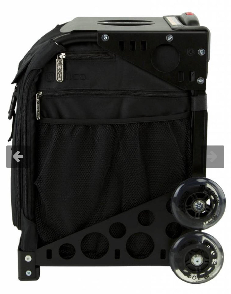 ZUCA - Sports Artist Stealth/Black Frame with Flashing Wheels - Precious About Make-up, (product_title),Bags, Zuca