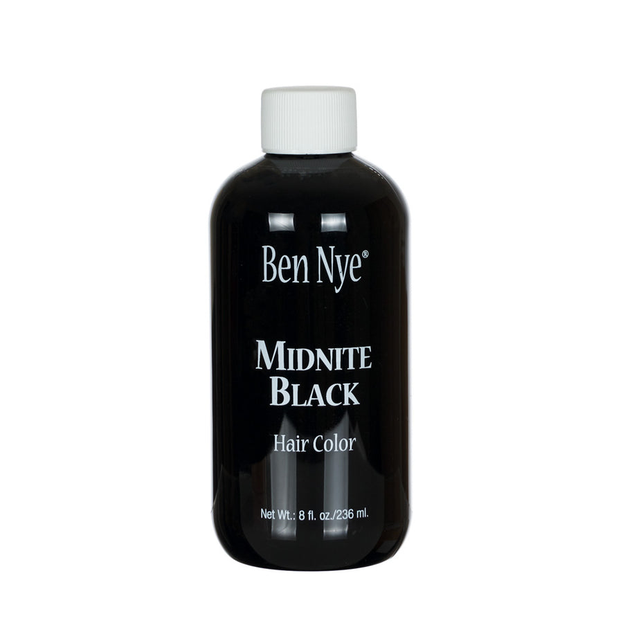 Ben Nye Midnite Black Hair Colour, a quick, fast, easy way to darken hair, that doesn't break the bank. Shampoo out.