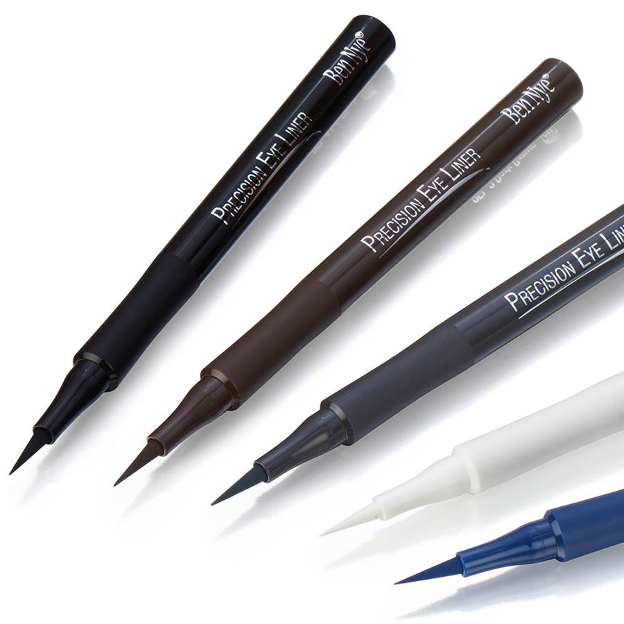 Ben Nye Ink Black Precision Eye Liner. The Ultra-fine black silicone nib is perfect for crafting eye flicks. For an example look for PAMS Tuesday Tip on Eye Flicks. Colour - Ink Black. 1ml/0.034oz