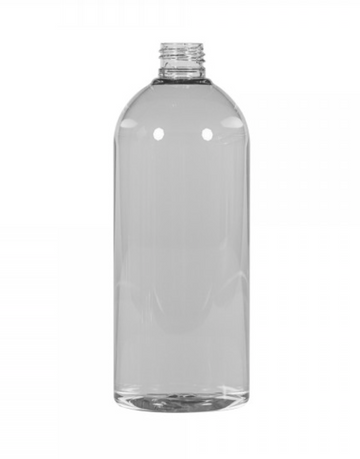 1000 ml Clear bottle with white cap - Precious About Make-up