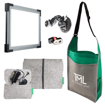 The Makeup Light (TML) - Starter Kit Graphite with Suction Mount - Precious About Make-up, (product_title),Lights, TML