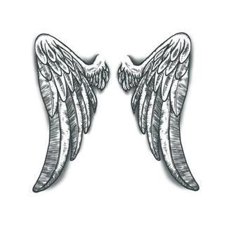 Tattooed Now! Angels Wings - Beautiful large angel wings. Ideal for back. With these on, you will want to fly.  Tattoo Design Size: one wing measures 23,5 x 12 cm (paper size A4 - 21x29.7 cm)  -Realistic temporary tattoo transfer! -Easy to apply! -Special non-sharp finish for better and more realistic look! -Looks like a real tattoo when applied! -Used by professional make-up artists